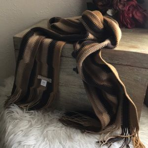 Nordstrom Stripe Knitted Fringe Long Scarf